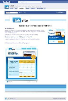 No More Static FBML!  Hello TabSite!